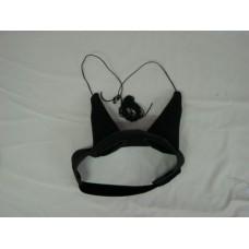 Ear Hood Removable, Fluffy Plugs.Black Neoprene