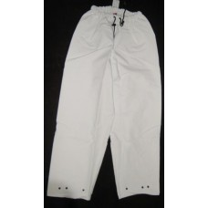 Pants,White P V C Waterproof