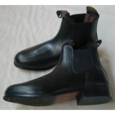 Black Elastic Sided Driving Boots