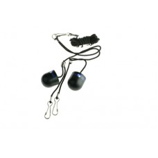 Ear Plugs Black Rubber, Side Clips onto Bridle